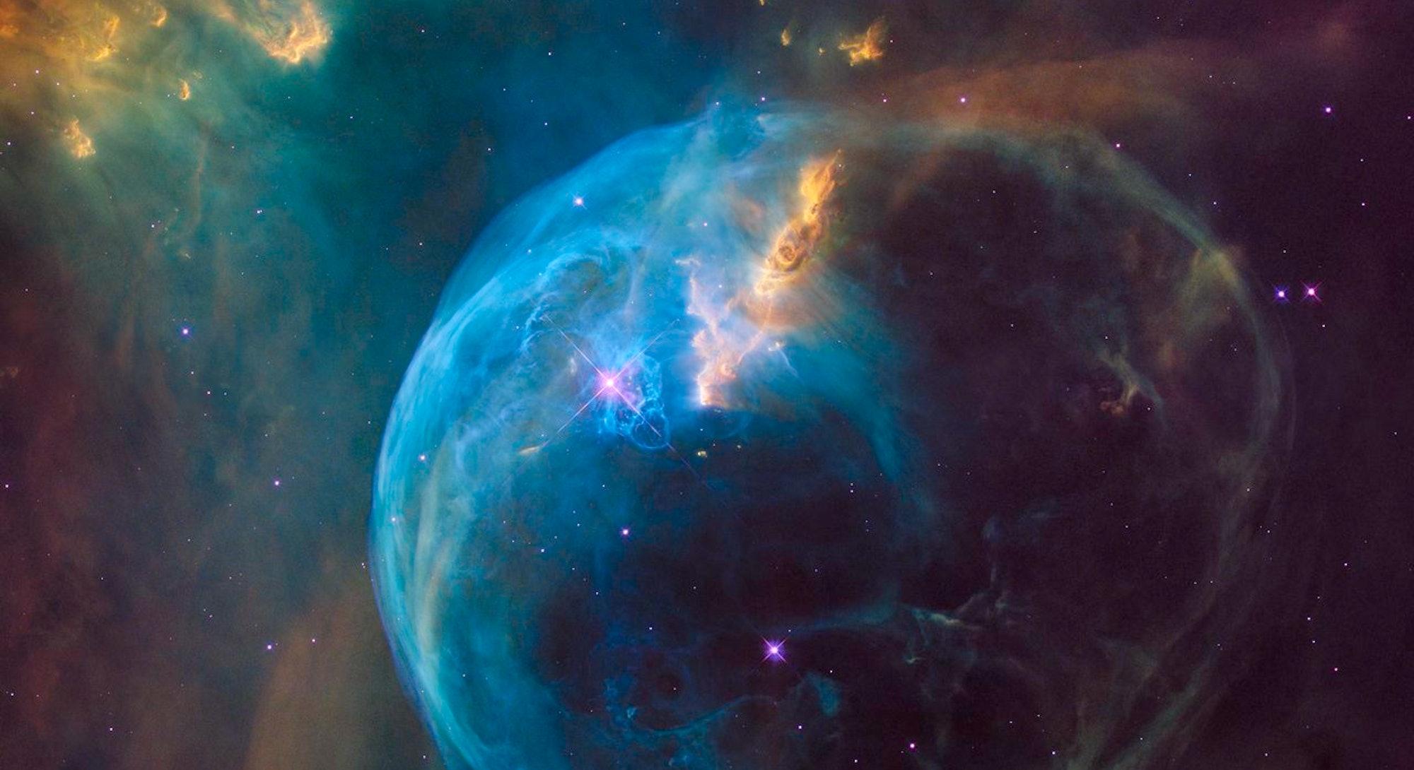 Hubble image of a nebula