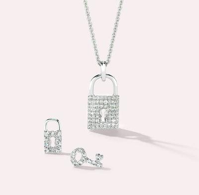 Diamond Lock and Key Set