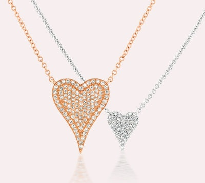 Heartbeats Diamond Necklace Set