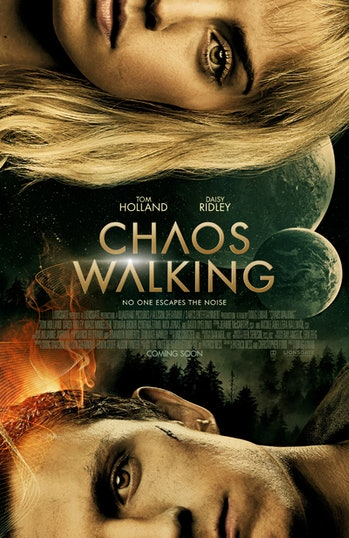 chaos walking poster tom holland daisy ridley new movie