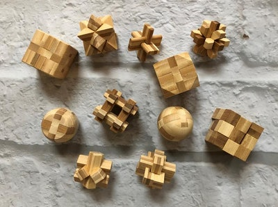 Handcrafted Wooden Brain Teasers
