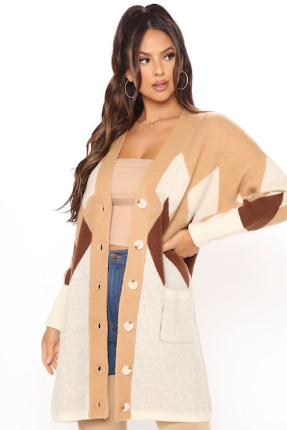 All About The Angles Button Front Cardigan