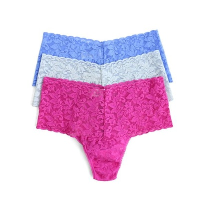 3-Pack Retro Lace Thong