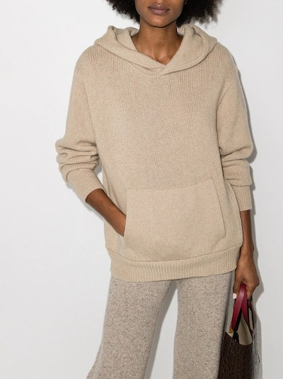 Knitted Cashmere Hoodie