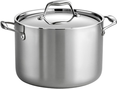 Tramontina Gourmet Stainless Steel Tri-Ply Clad Covered Stock Pot