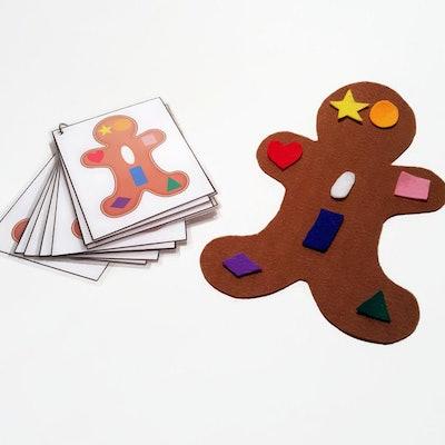Gingerbread Felt Matching Game