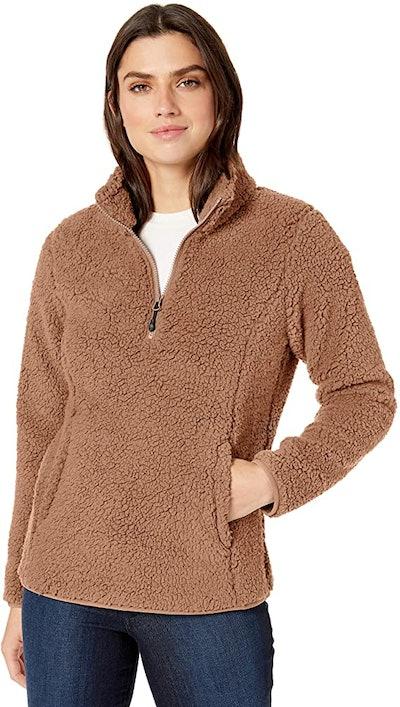 Amazon Essentials Polar Fleece Lined Sherpa Quarter-Zip Jacket