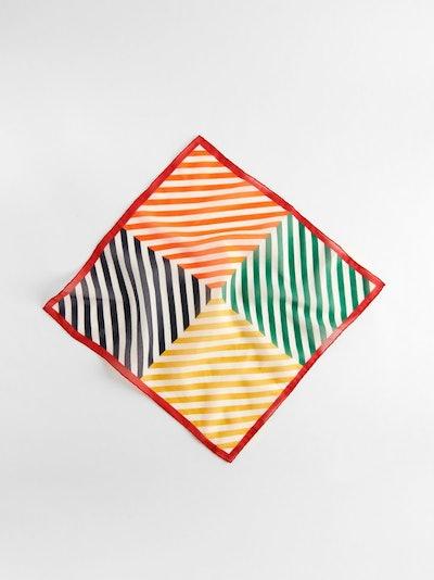 P'Jimmies Bandana in Scrambled Stripes