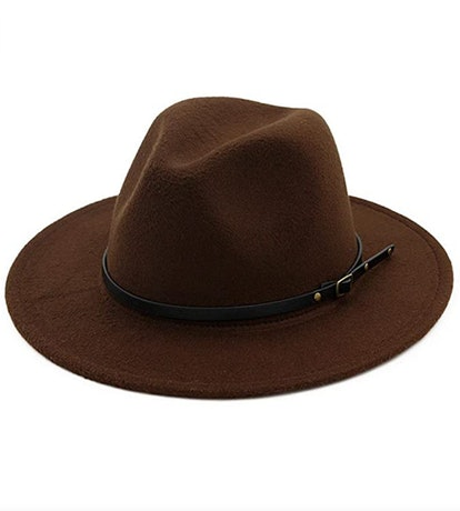 Lisianthus Belt-Buckle Fedora Hat