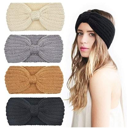 DRESHOW Crochet Headbands (4-Pack)