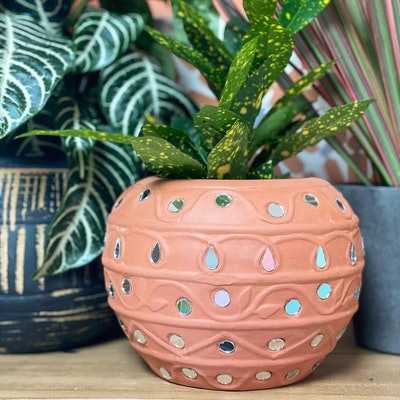 Terracotta Mirrored Pots