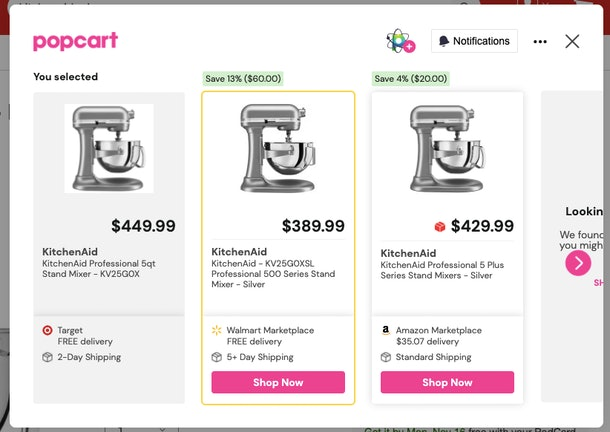 Popcart is a browser extension meant to help you save money.