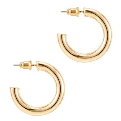 PAVOI 14K Gold Colored Hoop Earrings