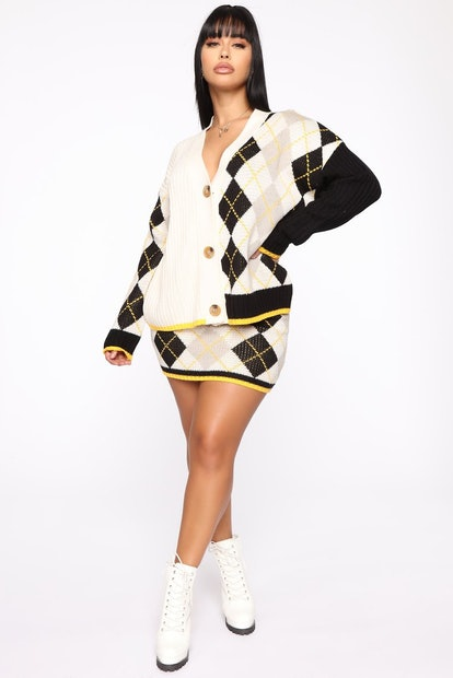 Smarty Cardigan Sweater Set