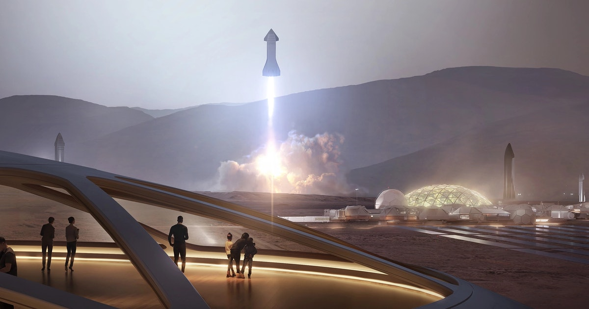 Terraform Mars: Elon Musk says a Mars city of 'glass domes' comes first