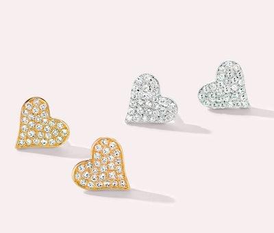 Heartfelt Diamond Earrings Set