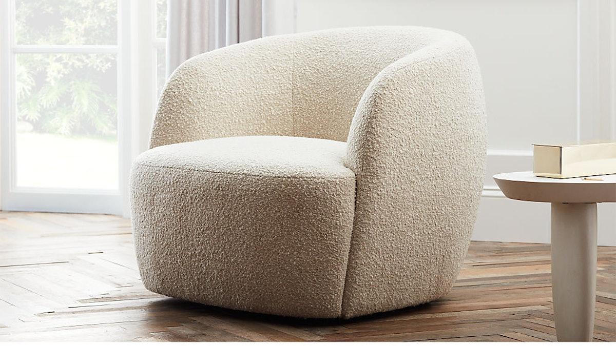 Gwyneth Ivory Boucle Chair