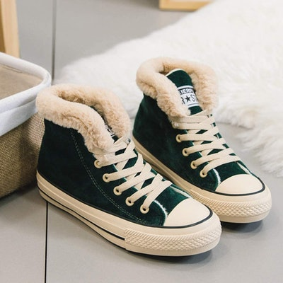JUSTFASHIONNOW Shearling High-Top Sneaker