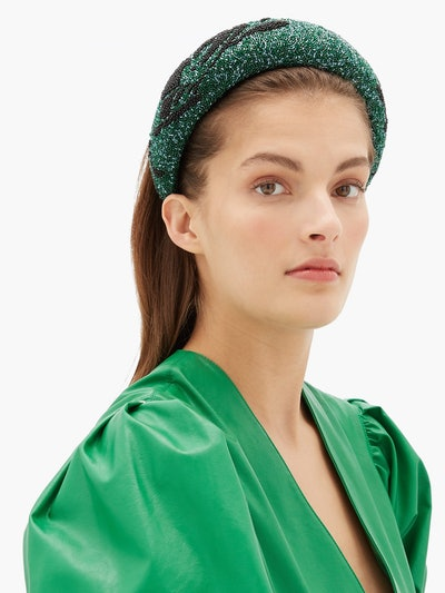 Floral Beaded Padded Headband