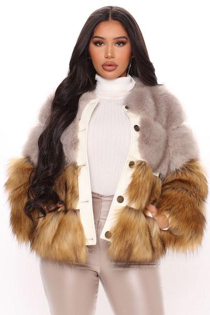 Very Furgetful Faux Fur Jacket
