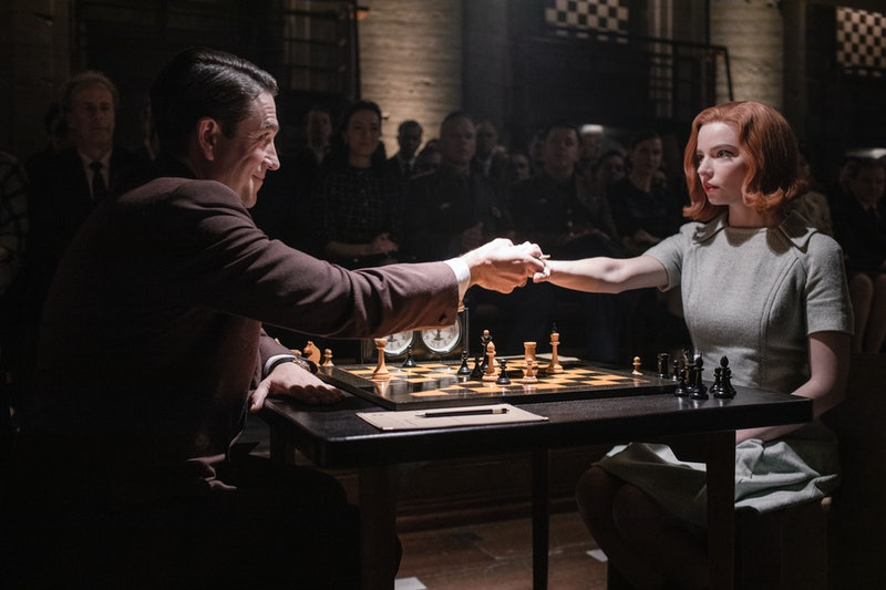 A still from the ending of 'The Queen's Gambit' via the Netflix press site