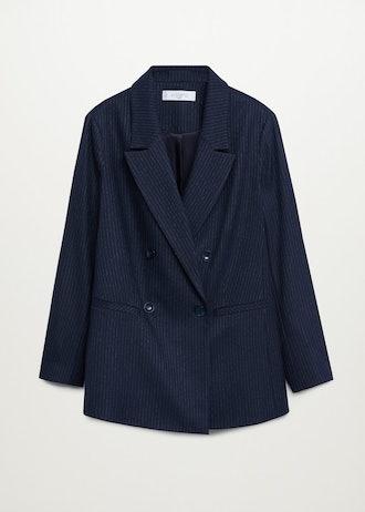 Pinstripe Suit Blazer