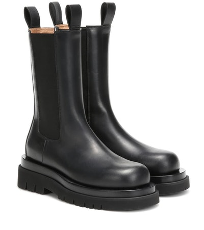 Lug Leather Ankle Boots