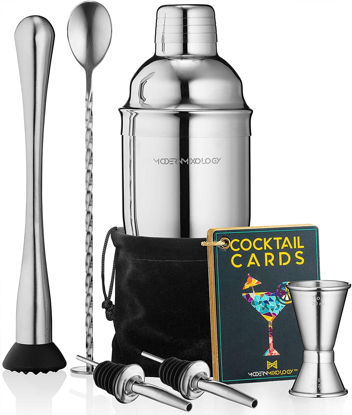 Cocktail Shaker Set Drink Mixer (8-Piece Kit)