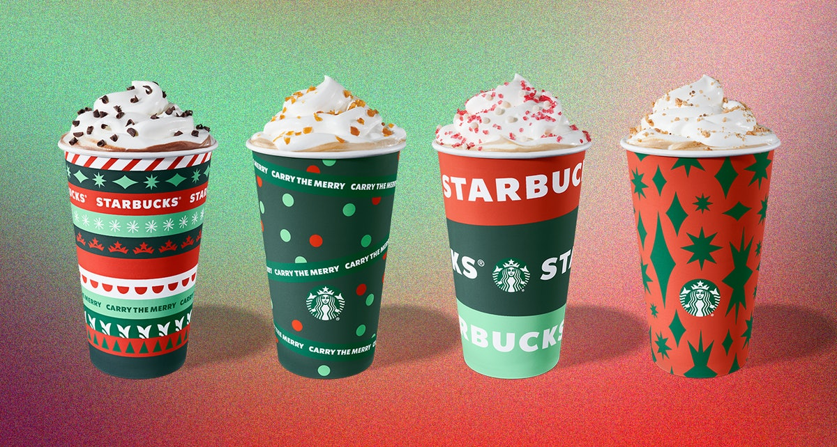 Starbucks will be rolling out four holiday cup designs this year.