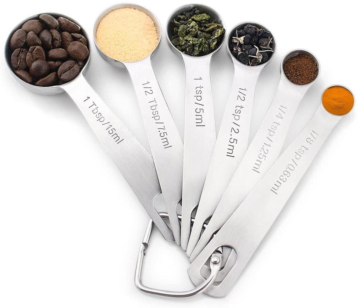 1Easylife 18/8 Stainless Steel Measuring Spoons (Set of 6)