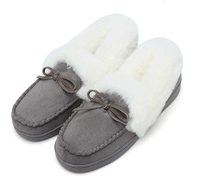 FANTURE Women's Moccasin Slippers