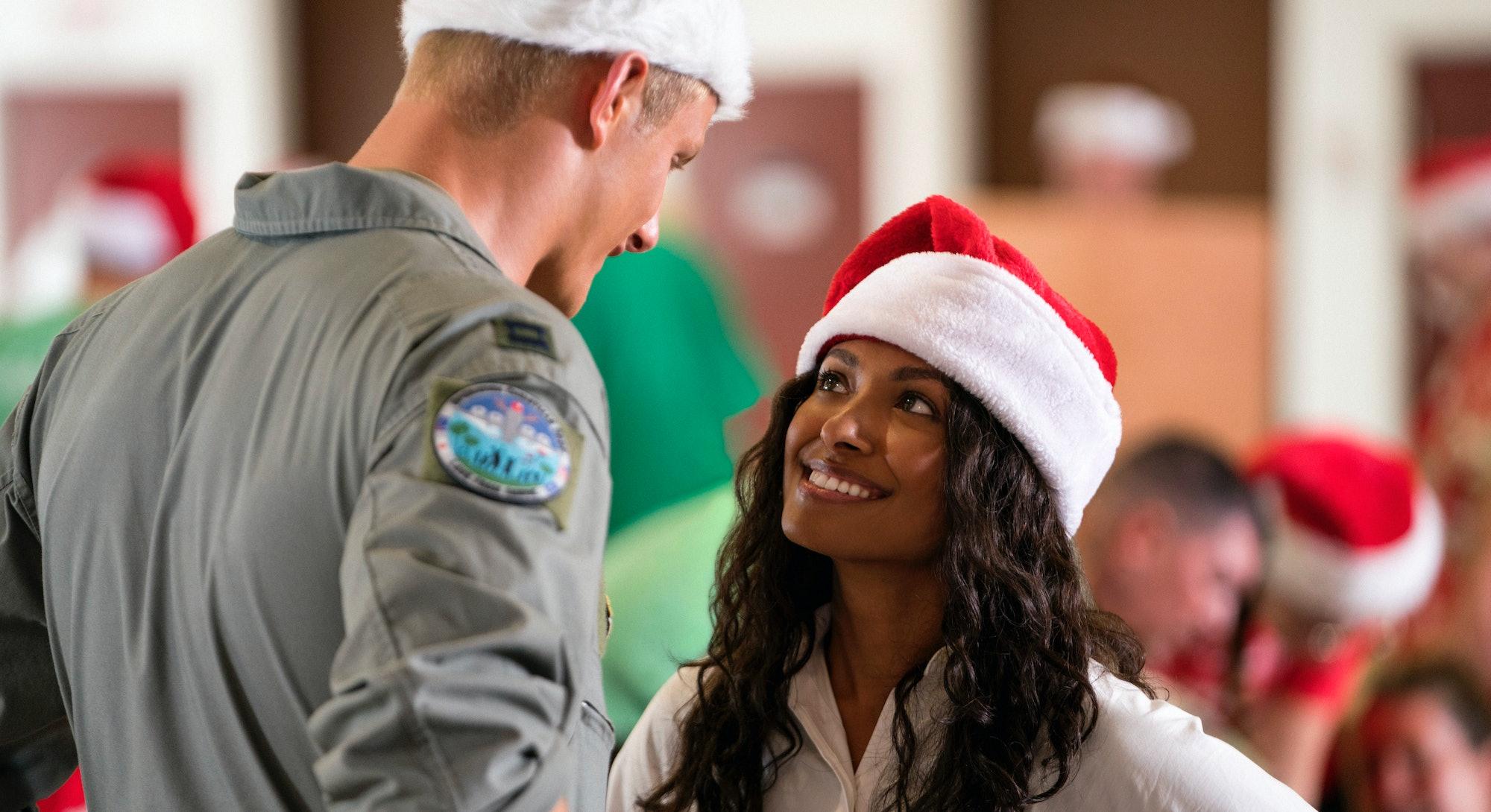 Kat Graham in 'Operation Christmas Drop' via the Netflix press site.