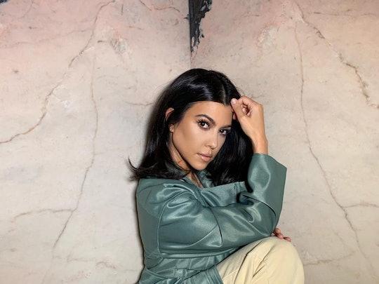 Kourtney Kardashian's newest manicure features a bright blue shade.