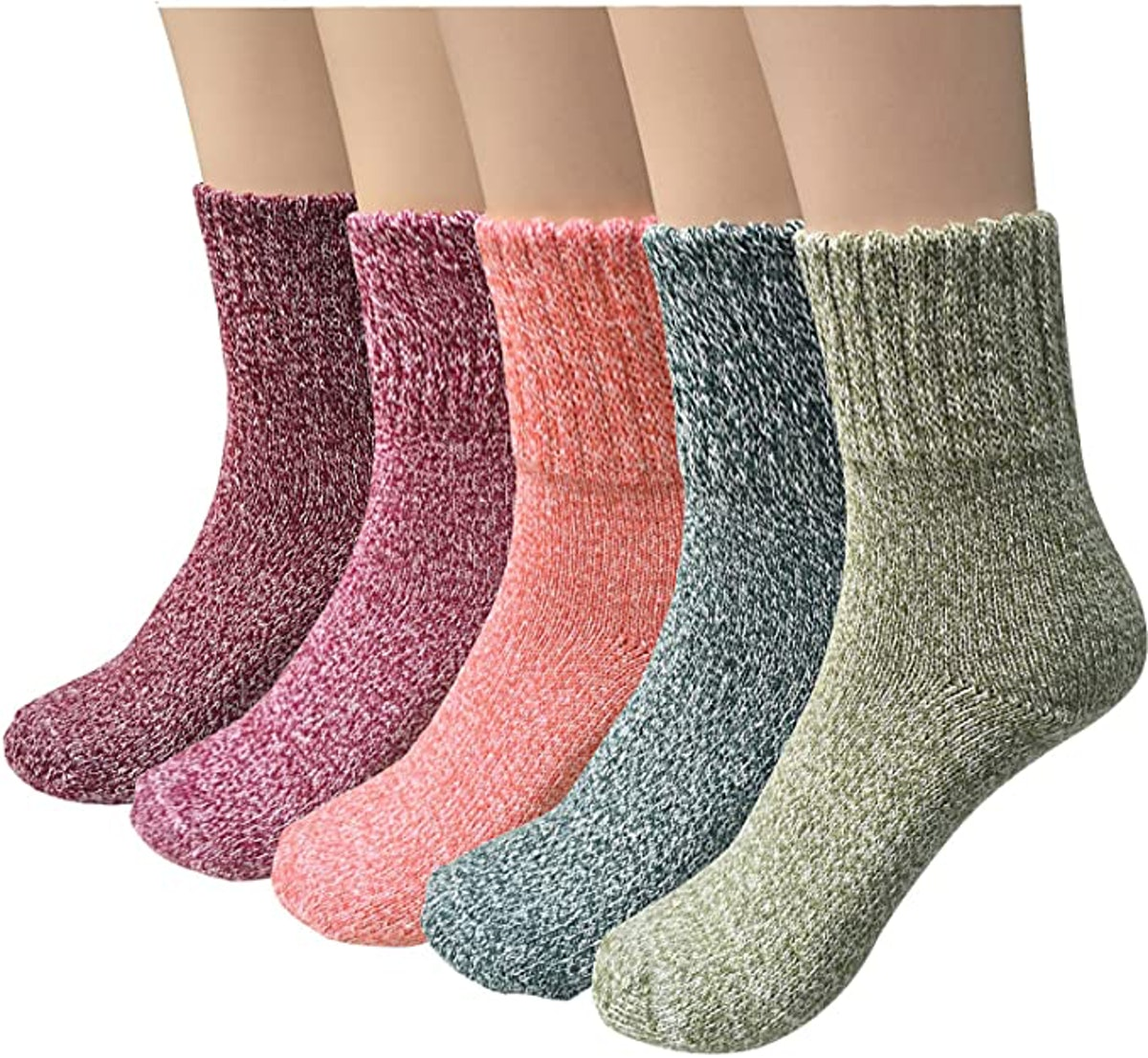 YSense Winter Warm Socks (5-Pairs)