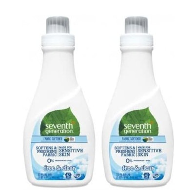 Seventh Generation Natural Fabric Softener, 32 Ounces (2-Pack)