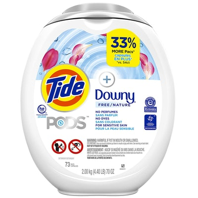 Tide Pods +Downy Free Laundry Detergent Pacs, 73-Count