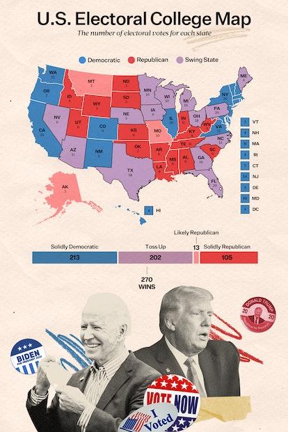 2020 U.S. electoral college map