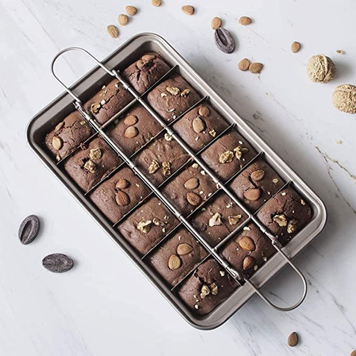 Ailelan Non-Stick Brownie Pans With Dividers