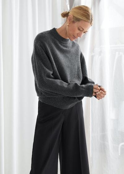 Oversized Wool Knit Jumper