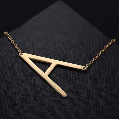 MOMOL Sideways Initial Necklace
