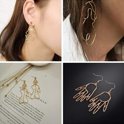 MOOKOO Abstract Design Earrings (4-Pack)