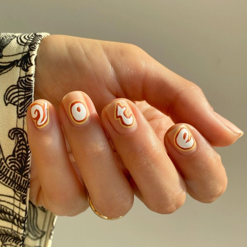 Election-themed nail art is the newest Instagram trend