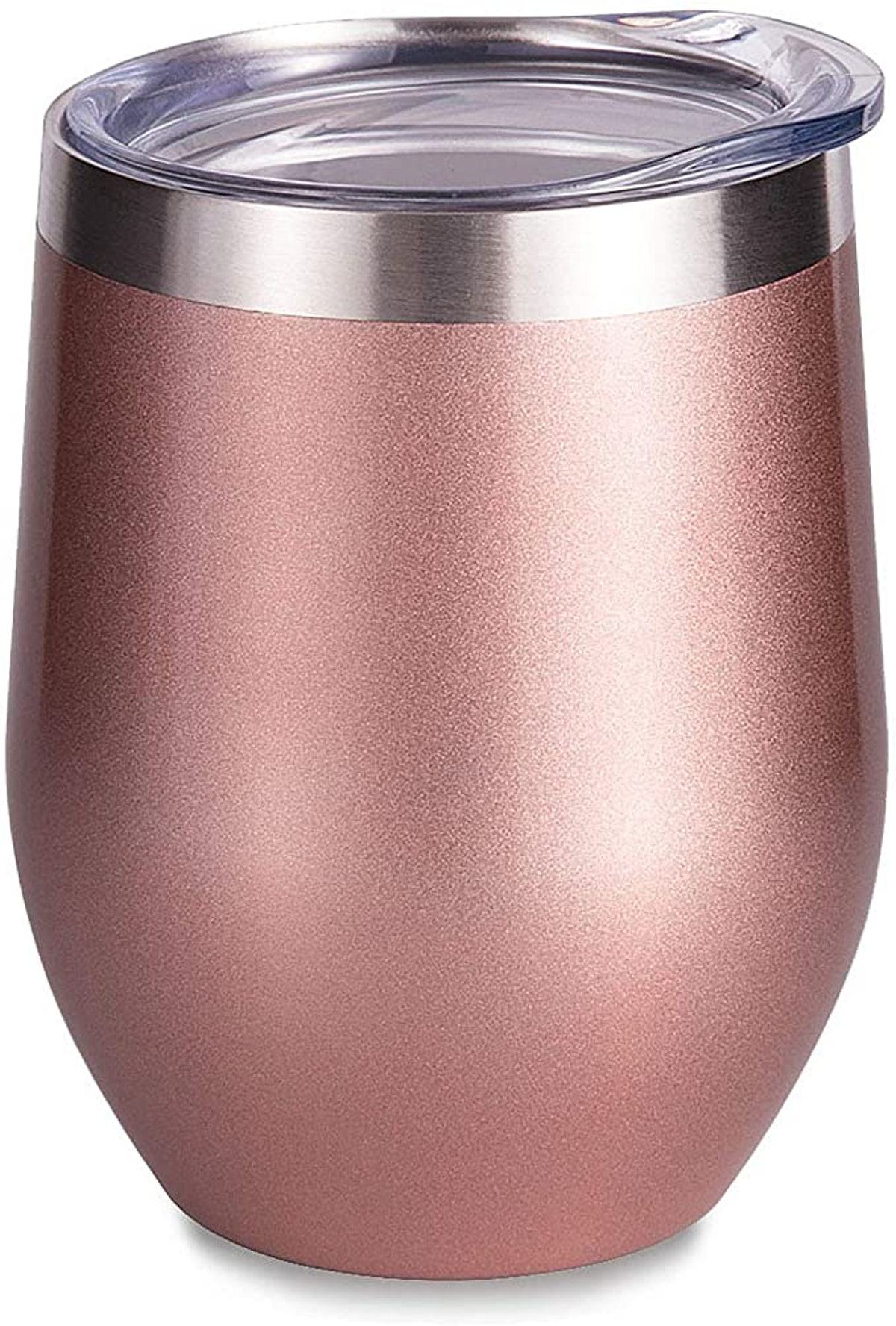 SUNWILL Insulated Wine Tumbler with Lid