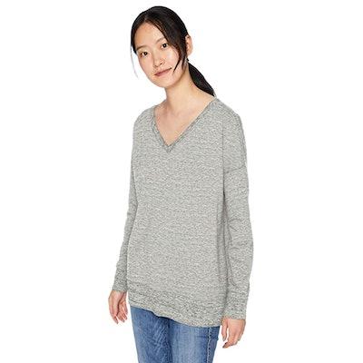 Daily Ritual Terry Cotton V-Neck Sweatshirt