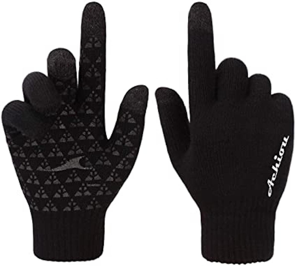 Achiou Touchscreen Winter Knit Gloves