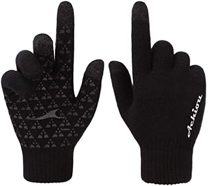 Achiou Touchscreen Winter Knit Gloves