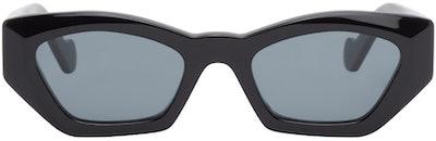 Black Butterfly Cat-Eye Sunglasses