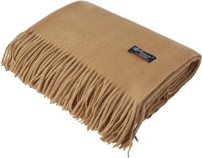 Cashmere Boutique 100% Pure Cashmere Throw Blanket