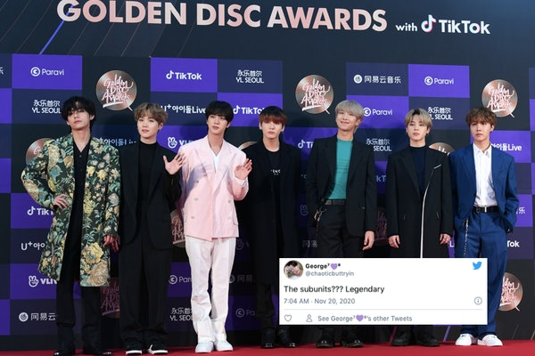 Tweets about the subunits on BTS' 'BE'