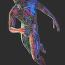 Illustration of a running man.